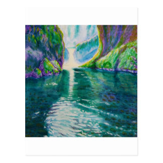 Upper Punchbowl Waterfall, Oregon Postcard