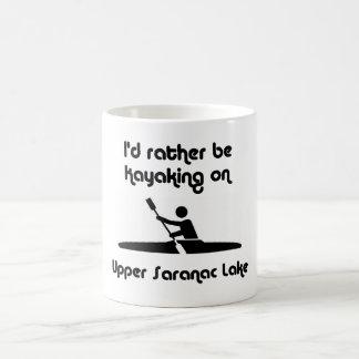 upper saranac id kayaking coffee mug