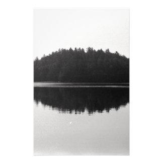 Upper Saranac Lake Adirondack Island Photograph Stationery Design