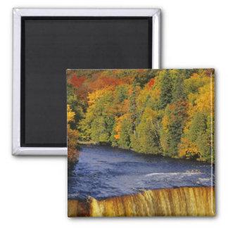 Upper Tahquamenon Falls in UP Michigan in 2 Inch Square Magnet