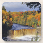 Upper Tahquamenon Falls in UP Michigan in autumn Drink Coaster