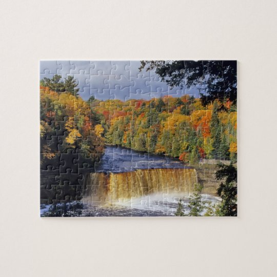 Upper Tahquamenon Falls in UP Michigan in autumn Jigsaw Puzzle