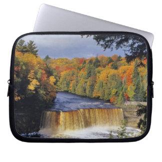 Upper Tahquamenon Falls in UP Michigan in autumn Laptop Computer Sleeve