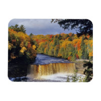 Upper Tahquamenon Falls in UP Michigan in autumn Magnet