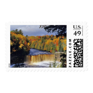 Upper Tahquamenon Falls in UP Michigan in autumn Postage