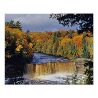 Upper Tahquamenon Falls in UP Michigan in autumn Poster