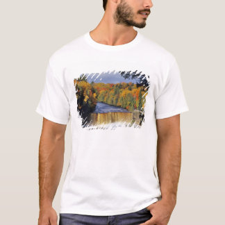 Upper Tahquamenon Falls in UP Michigan in autumn T-Shirt