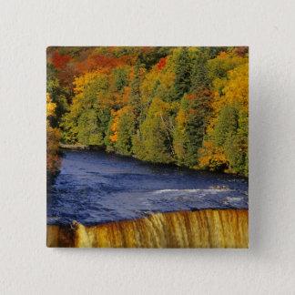 Upper Tahquamenon Falls in UP Michigan in Button