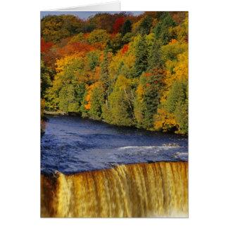 Upper Tahquamenon Falls in UP Michigan in Card