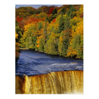 Upper Tahquamenon Falls in UP Michigan in Postcard