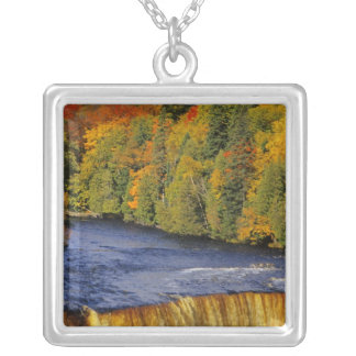 Upper Tahquamenon Falls in UP Michigan in Silver Plated Necklace