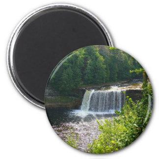 Upper Tahquamenon Falls, Michigan 2 Inch Round Magnet