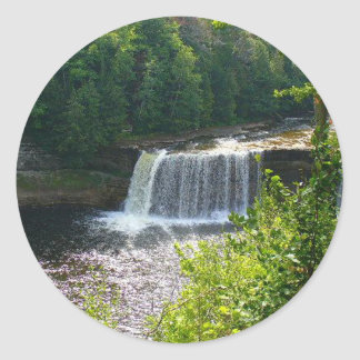 Upper Tahquamenon Falls, Michigan Classic Round Sticker