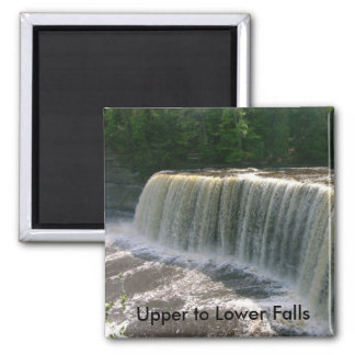Upper to Lower Falls 2 Inch Square Magnet