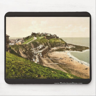 Upper town and beach Granville France classic Ph Mouse Pad