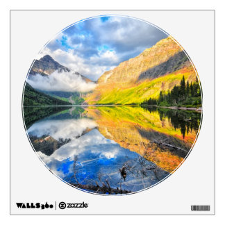 Upper Two Medicine Lake at Sunrise Wall Graphic