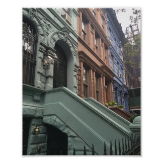 Upper West Side Brownstone Townhouses New York NYC Poster