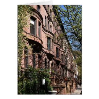 Upper West Side Brownstones New York City NYC Card