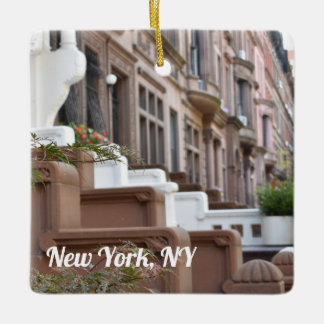 Upper West Side Brownstones New York City NYC Ceramic Ornament