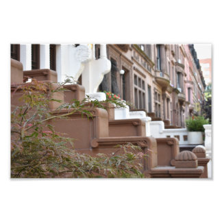Upper West Side Brownstones New York City NYC Photo Print