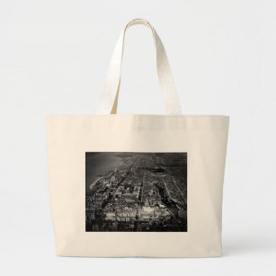 Upper West Side New York City Aerial View 1928 Large Tote Bag