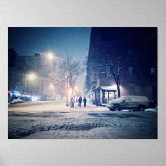 Upper West Side Winter Night Poster
