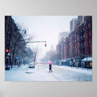 Upper West Side Winter Snowstorm Poster