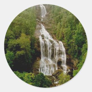 Upper Whitewater Falls Classic Round Sticker