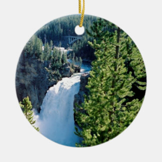 Upper Yellowstone Falls Ceramic Ornament