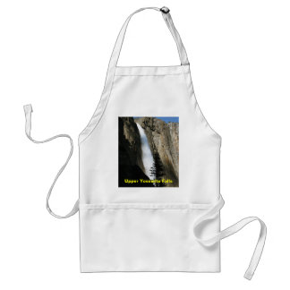 Upper Yosemite Falls in California Adult Apron