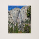 """Upper Yosemite Falls in November Jigsaw Puzzle<br><div class=""""desc"""">Upper Yosemite Falls in mid-November (of a dry year) in Yosemite National Park,  California. This view is from near Yosemite Lodge.</div>"""