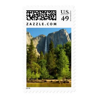 Upper Yosemite Falls, Merced River, Yosemite Postage