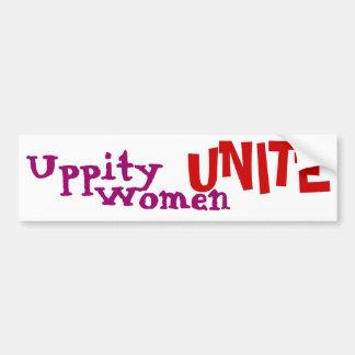 Uppity Women Unite - Bumper Sticker 1