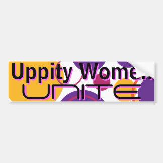 Uppity Women Unite - Bumper Sticker 3