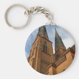 Uppsala Cathedral Sweden Keychain