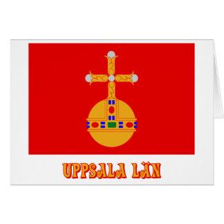 Uppsala län flag with name card