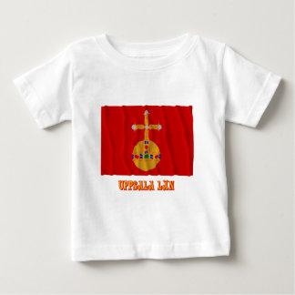 Uppsala län waving flag with name tshirts