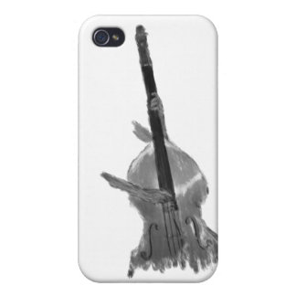 Upright acoustic bass being played by two hands iPhone 4 case