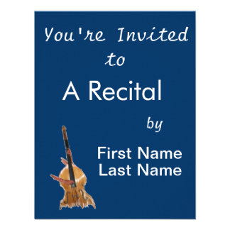 Upright acoustic bass with hands musician personalized invite