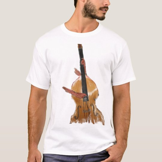 Upright acoustic bass with hands musician T-Shirt