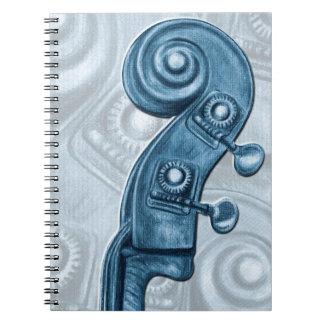 Upright Bass Blue Notebook