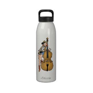 Upright Bass Cowgirl bottle Drinking Bottles