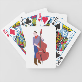Upright Bass Player Bicycle Playing Cards