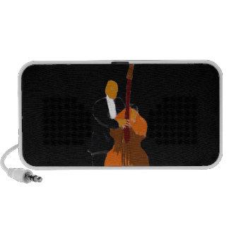 Upright bass player , customizable background mp3 speakers