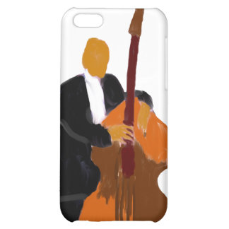Upright bass player full body black suit iPhone 5C covers