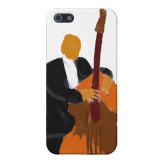 Upright bass player full body black suit cover for iPhone 5
