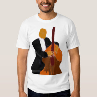Upright bass player, full body black suit T-Shirt