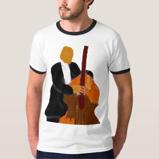 Upright Bass Player Ringer T-Shirt