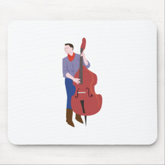 Upright Bass Player Mouse Pad