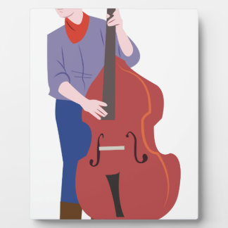 Upright Bass Player Plaque